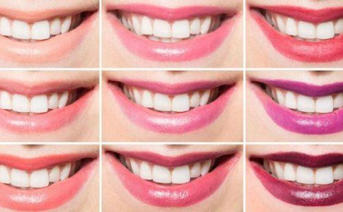 Come scegliere il rossetto giusto per i tuoi denti? Il segreto è nei colori